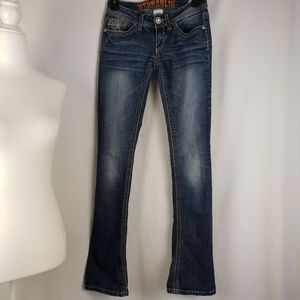 Hydraulic Lola Micro Boot Cut Embellished Jeans 0